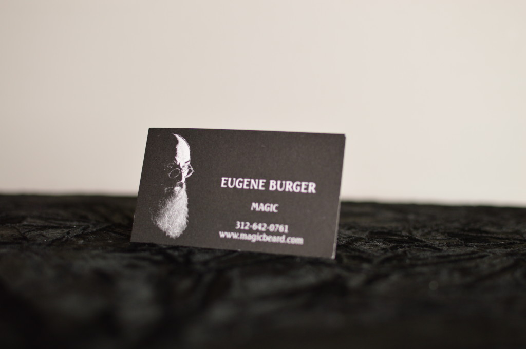 Eugene Burger's Business Card