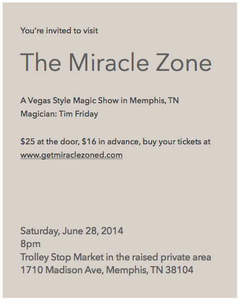 You're gonna get Miracle Zoned!